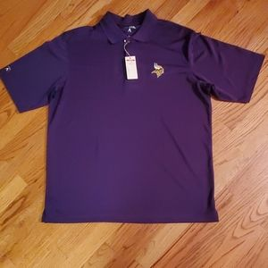Antigua Vikings Men's L Pique Xtra Lite - NWT